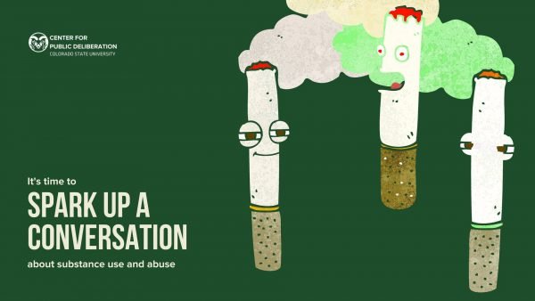 Banner image for Spark Up the Conversation event. Features three cigarettes with faces.