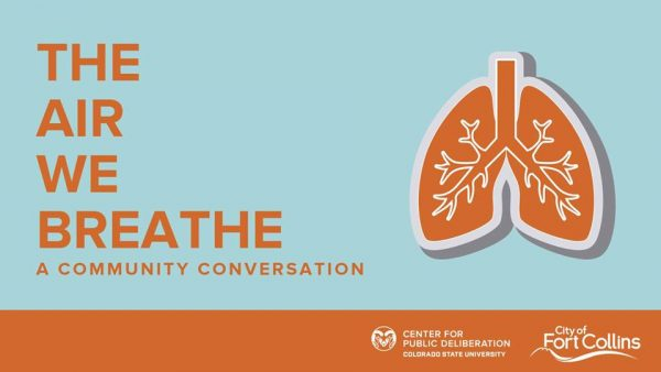 Event banner for The Air We Breathe - A Community Conversation.