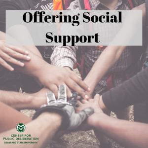 Offering Social Support